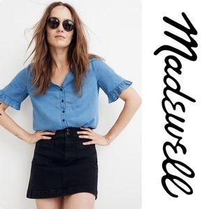 Madewell Stretch Denim A-line Mini Skirt